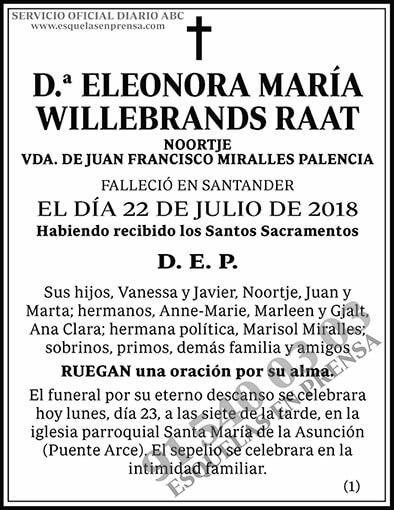 Eleonora María Willebrands Raat